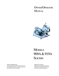 Berkel 909A User Manual