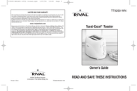 Rival TOAST-EXCEL TT9260-WN User Manual