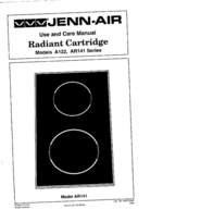 Jenn-Air Radiant Cartridge AR141 AR141 User Manual