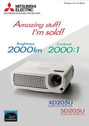 Mitsubishi Electric VLT-XD205LP Leaflet