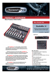Jammin Pro StudioMix 12 5480004 Leaflet