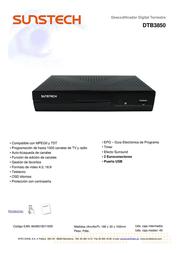 Sunstech DTB3850 Leaflet