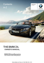 BMW 2015 Z4 sDrive35is Owner's Manual