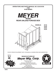 "Meyer Cable Box 8100 SERIES ""BOSS"" REAR UNLOAD FORAGE BOX User Manual"