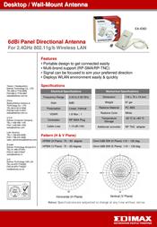 Edimax EA-ID6D Indoor Directional Antenna EA-ID6D Leaflet