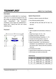 Transcend Multi-Card Reader TS0MFLRD7 User Manual