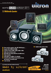 Ultron Sonic Cube edition 2.1 silver 28091 Leaflet