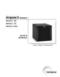 Velodyne impact 10 User Manual