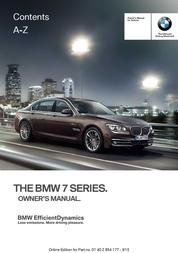 BMW 2015 740i Sedan Owner's Manual