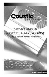 Coustic 240SE User Manual