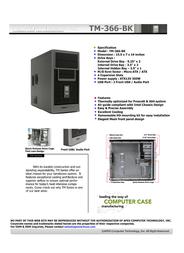 Apex TM-366-BK Leaflet
