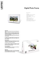 Leotec Digital Photo Frame LEDPF02 Leaflet