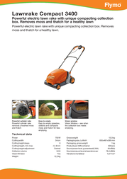 Flymo Compact 3400 5011759025270 Leaflet