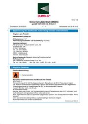 Cramolin Gas duster flammable 1471611 400 ml 1471611 Data Sheet