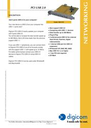Digicom PCI USB 2.0 8E4153 Leaflet