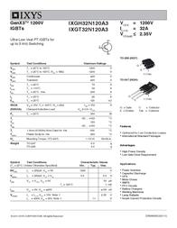 Ixys IXGH32N120A3 IGBT 1200V IXGH32N120A3 Data Sheet
