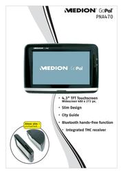 Medion GoPal PNA470 MD96188 Leaflet
