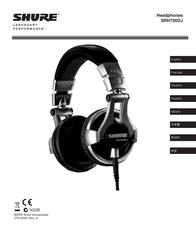 Shure SRH750DJ User Manual