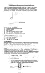 La Crosse Technology Outdoor Temperature/Humidity Sensor TX7U User Manual
