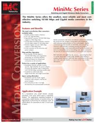 IMC Networks Giga-MiniMc, TX/SSLX-SM1550/LONG-SC 56-10739 Leaflet
