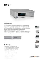 Originae S10V S10V/S Leaflet