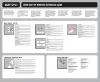 Burton 2009 Bindings Merkblatt