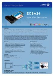 Sunix ECSA24 Leaflet