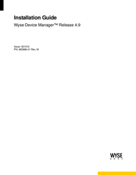 Wyse devise manager release 4.9 Manuale Utente