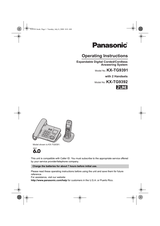 Panasonic KX-TG9391 Operating Guide