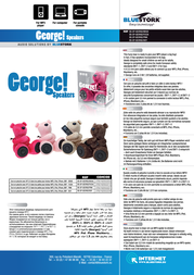 Bluestork BS-SP-GEORGE/WHITE Leaflet