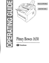 Pitney Bowes 1630 User Manual