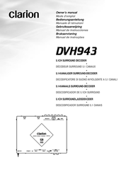 Clarion 5.1CH Surround Decoder DVH943 User Manual