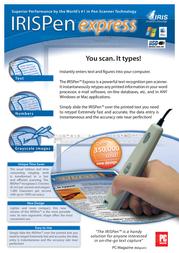 I.R.I.S. IRISPen Express, FR HIPXP3TPAFR480 Leaflet
