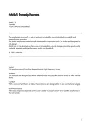 AIAIAI Swirl User Manual