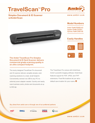 Ambir Technology TravelScan Pro PS600-PM Leaflet