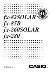 Casio Scientific Calculator FX-82 Solar CAS0054 Data Sheet