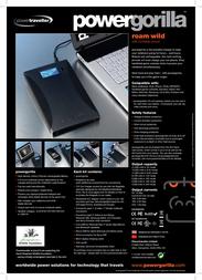 PowerTraveller PG001 Leaflet