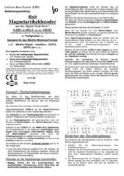 Ldt S-DEC-4-MM Magnetic item decoder S-DEC-4-MM S-DEC-4-MM Data Sheet
