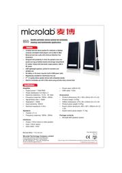 Microlab B55 Leaflet