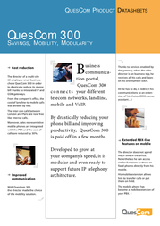 Quescom 300 Q312-4G-IP Leaflet