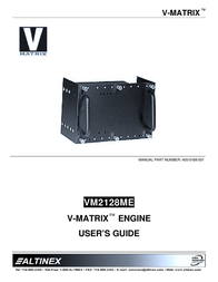 ALTINEX V-MATRIX VM2128ME User Manual