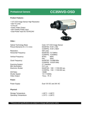COP-USA cc35nvd-osd Specification Guide