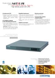 Socomec NET1000-PR-1U Leaflet