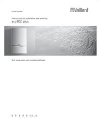 Vaillant ecoTEC plus SERIES Installation Instruction