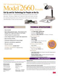 3M Portable Overhead Projector Model 2660 Leaflet