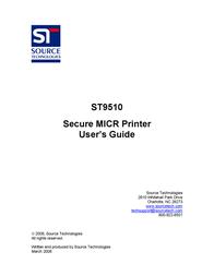 Source Technologies Secure MICR Printer ST9510 User Manual