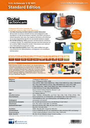 Rollei Actioncam Action Cam 5040253 S 50 5040253 Data Sheet