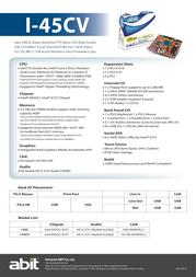 abit I-45CV Leaflet