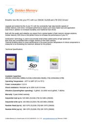 Golden Memory LS25M16MLC1TB Leaflet