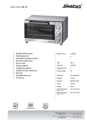 Steba KB 19 04.29.00 Leaflet